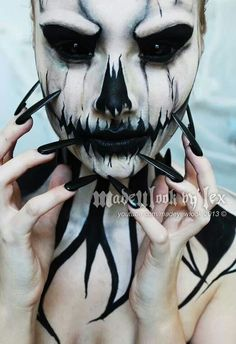 Halloween Demon Face Paint