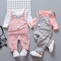 Spring newborn baby girls clothes sets fashion suit T-shirt + pants suit baby girls outside wear sports suit clothing sets Baby rompers hello kitty girls clothes new born baby Cartoon pajamas warm winter animal Pajamas roupas de bebe recem nascido YJY Kids Outfits Girls, Girl Outfits, Kids Girls, Twin Baby Outfits, Toddler Outfits, Baby Girl Fashion, Kids Fashion, Newborn Fashion, Newborn Clothing