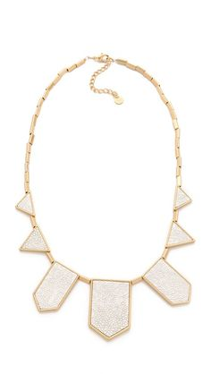 House of Harlow 1960 necklace (more white jewelry here http://chicityfashion.com/white-jewelry/)