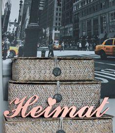 Heimat ist der Ort wo man sich wohl fühlt, Schriftzug, Wohndekoration / home is where your heart is, home decoration by woodworld via DaWanda.com