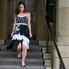 upcycled clothing . slip dress . head over heels by pondhopper