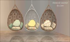 some recolors of the pouf and the hanging chair from Verankas Bohemian Garden set all thanks and credits goes to her for her wo...