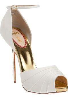 louboutin bride shoes