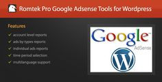 Pro Google Adsense Tools Plugin for Wordpress . A great utility plugin for your Google Adsense account it will show you extensive reports regarding your general Adsense information right inside your Wordpress administrative area and also information base on ads type and individual ads. You will be able to select your time period for the reports