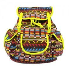 Plecak vintage Salomea indian /n.żółty/ unisex