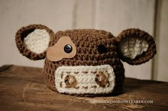 Cow hat and Diaper Cover FREE pattern