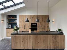Rural and modern design kitchen Loft Kitchen, Home Decor Kitchen, Kitchen Furniture, Diy Kitchen, Loft Furniture, Kitchen Hacks, Kitchen Ideas, Modern Kitchen Design, Interior Design Kitchen