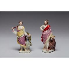 Jupiter and Juno [Zeus and Hera]. Muses Modeller, Bow Porcelain Factory C1752
