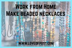 LOP Work from Home - Make Beaded Necklaces - Love of Post Jewelry Clasps, Bead Jewellery, Bold Words, Chain Nose Pliers, Crimp Beads, How To Make Necklaces, Super Glue, Short Necklace, Beaded Necklaces