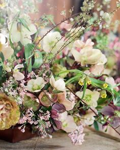 """Floral arrangement.  @sarah_winward on Instagram: """"More spring goodness from @lauriearons #weddingplannermasterclass up on my blog, photo by @josevilla"""""""