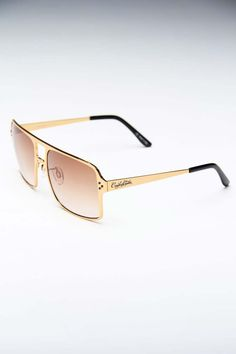 Noriega matte gold sunglasses by Crooks and Castles