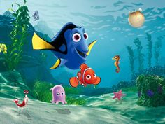 Finding Dory / Nemo fotobehang XL - 360x255cm-Muurdeco4kids