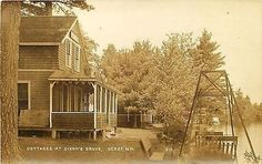 Derry New Hampshire NH 1915 Real Photo Vintage Postcard Dixon's Grove Cottages