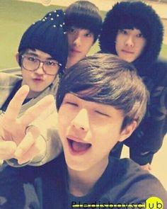 Seungcheol (S.Coups), Seokmin (DK), Wonwoo and Doyoon Pre-debut.  #Seventeen #세븐틴