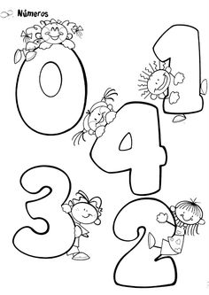 Kindergarden X( :) Learning Numbers, Math Numbers, Alphabet And Numbers, Coloring Book Pages, Coloring Sheets, Digi Stamps, Coloring Pages For Kids, Preschool Activities, Embroidery Patterns