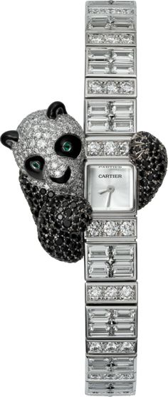 Cartier High Jewelry Visible Hour Panda Decor HPI00746 White Gold Watch | World's Best