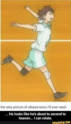 Haikyuu Oikawa - If Oikawa would know, that such a uncool picture of him exists. Anime Meme, Bts Anime, Anime Tumblr, Funny Anime Pics, Anime Guys, Anime Chat, Oikawa Tooru, Haikyuu Karasuno, Iwaoi