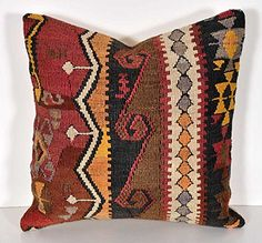 Vintage Hand-Woven Kilim Wool Pillow Cover Suzanis & Ikat Textiles http://www.amazon.com/dp/B00UZWB1O2/ref=cm_sw_r_pi_dp_3IJFvb0D62GPP