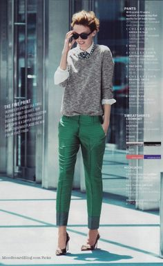 I'll be blatantly poaching this idea for styling my Shopping's My Cardio sweatshirt this fall. {via J.Crew}