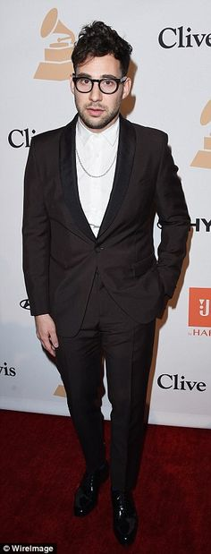 Looking sharp: Musician Jack Antonoff and host James Corden looked great in their stylish suits