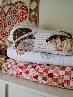 Supergoof Quilts  vind de tumblers heel mooi in rood, bruin en andere tinten!
