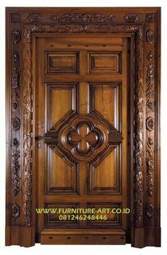 The Best Teak Wood Door Sills Interior Furniture, Classic Teak Carved Doors With Jepara Typical Fancy Carving Proces House Main Door Design, Wooden Front Door Design, Main Entrance Door Design, Pooja Room Door Design, Door Gate Design, Door Design Interior, Wooden Front Doors, Entrance Doors, Wood Doors