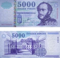 Monnaie hongroise - 5000 Ft - 5000 Forint #monnaiehongroise #monnaiehongrie #monnaiebudapest Note Image, Hungary History, Family Roots, Old Money, Saving For Retirement, How To Get Rich, World Traveler, 1, Stamp