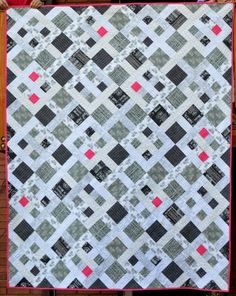Picket Fence Black and White Quilt
