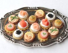 Buffet/Party Selection of Seafood Canapes (tray not included in sale)