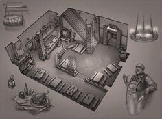 ArtStation - sketch_02_tavern, Dmitry DeMoon