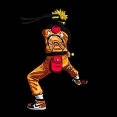 1877fc8fdbfecdd6ab2cc0c3fd7aee7a.jpg (480×480) Bape Cartoon, Trill Cartoon, Cartoon Art, Naruto Art, Anime Naruto, Naruto Shippuden, Dope Wallpapers, Naruto Wallpaper, Naruto Supreme
