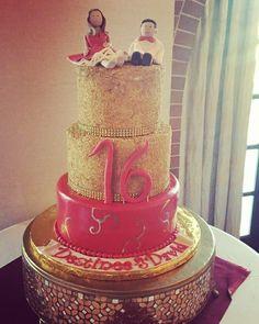 Red & gold sugar sweet 16 sculpted sugar figurines www.facebook.com/carinaedolce    www.carinaedolce.com #carinaedolce Red Gold, Sweet 16, Sculpting, Sugar, Facebook, Cake, Desserts, Food, Whittling