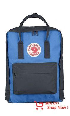 Fjallraven Kanken Backpack - Graphite/UN Blue Backpacks Waterproof Backpack, Unisex, Canvas, Classic, Boots, Graphite, Design, Backpacking Tips, Running Sports