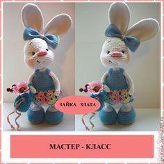 """Breien met de hand gemaakt.  Fair Masters - handgemaakt.  Koop Master - Class """"Golden Bunny '(breien beschrijving).  Handgemaakt."""
