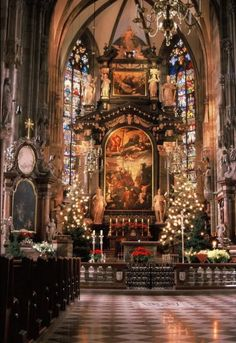 Christmas time at St Stephens Cathedral Vienna.
