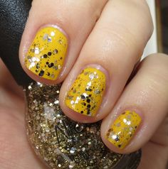 Nicole by OPI Kissed at Midnight over Hit the Lights - Selena Gomez (click through for full nail polish collection swatches and review)