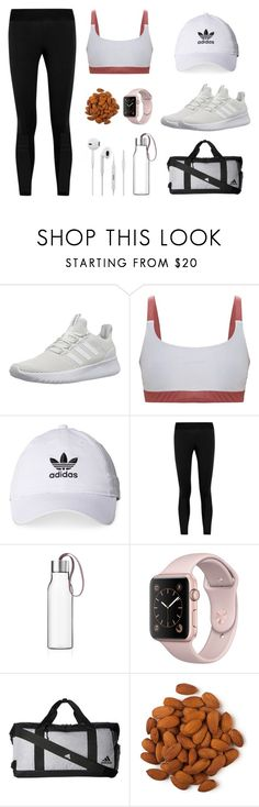 """""""gym essentials"""" by hannahmareerichardson ❤ liked on Polyvore featuring adidas NEO, adidas and Eva Solo"""
