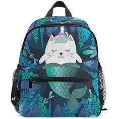 Cat Unicorn Mermaid Kids Backpack School Book Bag for Toddler Boys Girls      You can find more details by visiting the image link. Cool Christmas  Gifts 45c3745d56dc3