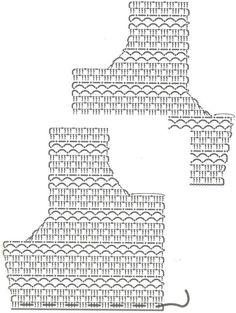 жакет вязаный крючком выкройка схема вязания