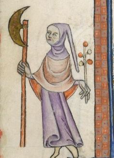 Detail from The Luttrell Psalter, British Library Add MS 42130 (medieval manuscript,1325-1340), f69v