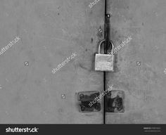 Old Padlocked, Black And White Tone, Abstract Dark Feeling Background Stock…