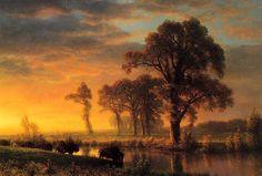 Image detail for -Albert Bierstadt oil painting, Hudson River School art movement, Art ...