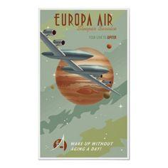 Travel to Jupiter vintage print