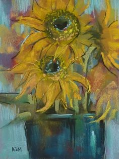 F is for Flowers...Painting them with Feeling, painting by artist Karen Margulis