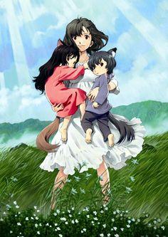 """""""The Wolf Children Ame and Yuki"""" (""""Ōkami Kodomo no Ame to Yuki"""") by Mamoru Hosoda."""