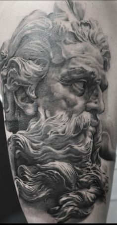 Black & Grey Tattoos By Schwarz,Photorealism. For more of his work please visit the facebook page of H.V.44 Tattoo Studio. #schwarzcraiova #photorealistictattoos Photorealism, Black And Grey Tattoos, Tattoo Studio, Lion Sculpture, Statue, Facebook, Art, Art Background, Kunst