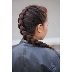 Dutch Braid Hairstyles 17 Stunning Dutch Braid Hairstyles With... ❤ liked on Polyvore featuring hair and hairstyle