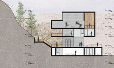 Image 19 of 21 gallery / Seinfeld Architects + Tandem Architecture. Cut / Section BB Section Drawing Architecture, Conceptual Architecture, Architecture Concept Diagram, Architecture Presentation Board, Architecture Collage, Architecture Board, Architecture Graphics, Modern Architecture House, Architecture Portfolio