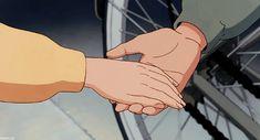 Studio Ghibli — Unable to stop. Anime Gifs, Anime Art, Personajes Studio Ghibli, Spirit Fanfics, Studio Ghibli Art, Japon Illustration, Ghibli Movies, A Silent Voice, Old Anime