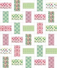 simple but pretty quilt from sew we quilt and stash.